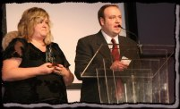 Pam & Jerry at National Cleveland Style Polka Hall of Fame Awards Show XX (photo courtesy of Laura Klancnik)